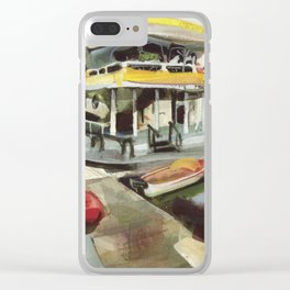 Capt. Carl W. Bolender sits abroad the S.S. Hurricane Gloria - Long Wharf, Newport Clear iPhone Case