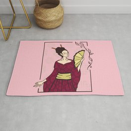 Geisha Japanese Artists Rug
