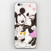 minnie iPhone & iPod Skins featuring Mickey & Minnie by karl oconnor