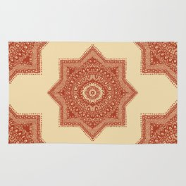 The Red Moroccan Pattern Rug
