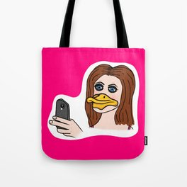 Duck Face! Tote Bag