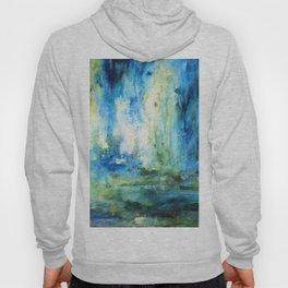 Contemporary Abstract Painting Spring Rain Hoody