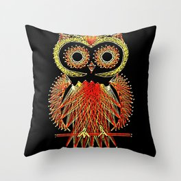 String Art Owl Throw Pillow