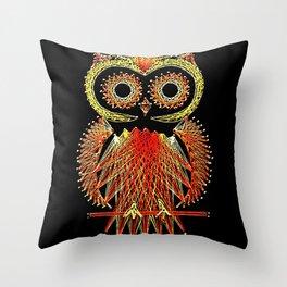 String Art Owl Throw Pillow