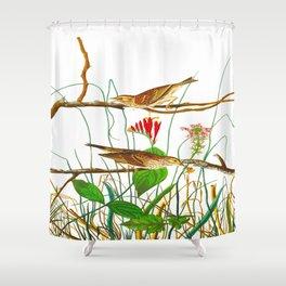 Savannah Finch Bird Shower Curtain