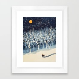 If on a Winter's Night Young Lover's... Framed Art Print