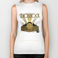 bioshock infinite Biker Tanks featuring Bioshock rapture illustration by sgrunfo