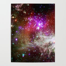 NGC 281 nebula with active star formation (NASA/Chandra) Poster