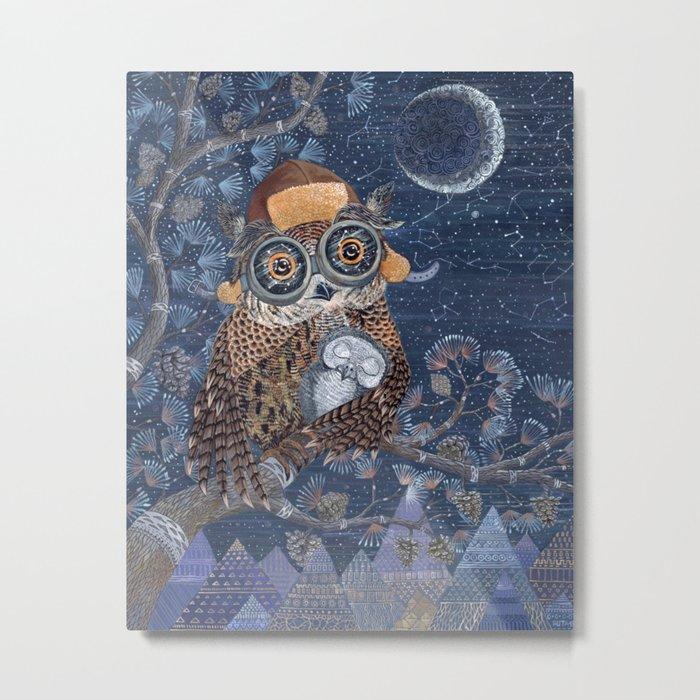 Owl mother Metal Print