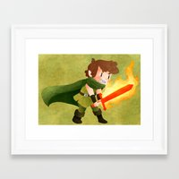 dungeons and dragons Framed Art Prints featuring Dungeons, Dungeons, and More Dungeons by Sir-Snellby