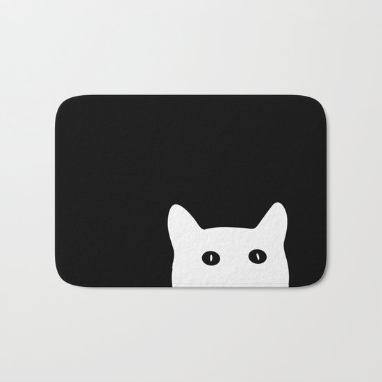 Sneaky Cat Bath Mat