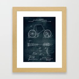 1896 - Snow shoe attachment for bicycles Framed Art Print
