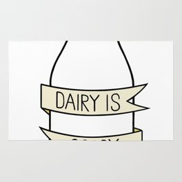Dairy is Scary Rug