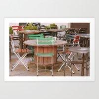 Bistro Chairs Art Print