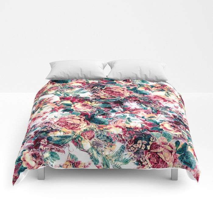 RPE FLORAL ABSTRACT II Comforters