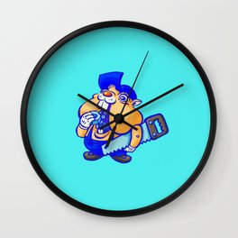 Cute hamster handy-man Wall Clock