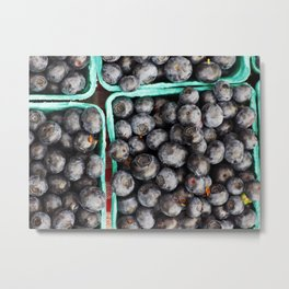 Bunches of Blueberries Metal Print