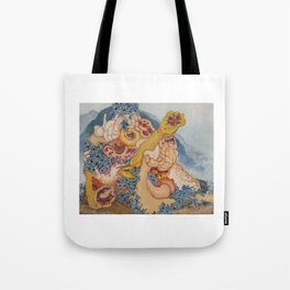 Reconstructed Lion Tote Bag