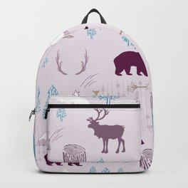Woodlands on Lavender Backpack