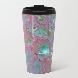 Pink Agate Formation Metal Travel Mug