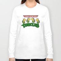 teenage mutant ninja turtles Long Sleeve T-shirts featuring Teenage Mutant Ninja Turtles Mario by tshirtsz