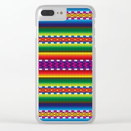 Colorful Woven South American Pattern Clear iPhone Case