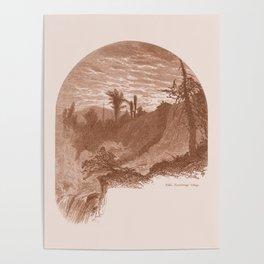 Lower Falls, Vintage Ticonderoga Poster