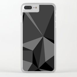 Low poly mess Clear iPhone Case