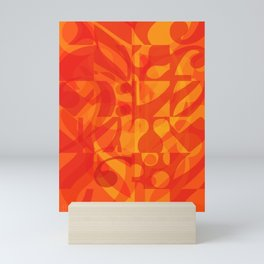 Red Yellow Simphony II Mini Art Print