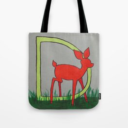 D is for Deer Tote Bag