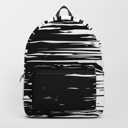 Carefree Black and White Backpack