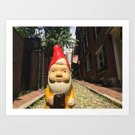 Gnome on Acorn Street in Beacon Hill, Boston, Massachusetts Art Print