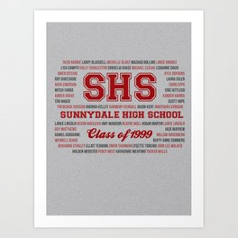 Sunnydale High School - Class of 1999 Art Print