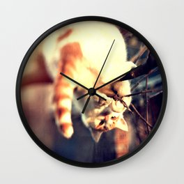 Lomo Cat Wall Clock