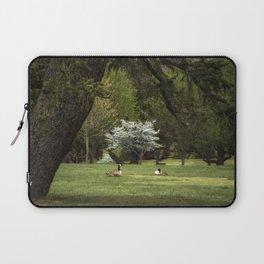 Geese in Meadow Laptop Sleeve