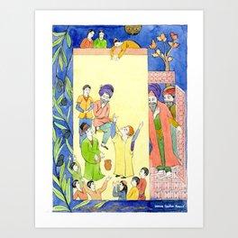 Arabian Nights-Ali Cogia and the children play Art Print