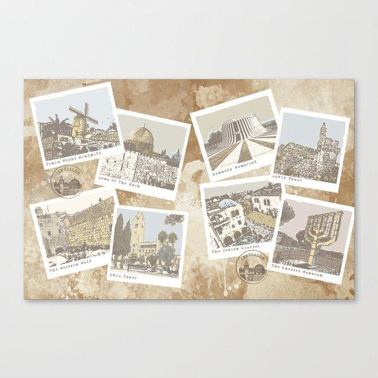 vintage jerusalem Canvas Print