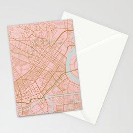 Ho Chi Minh map, Vietnam Stationery Cards