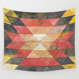 Reclaimed Triangle Pattern Wall Tapestry