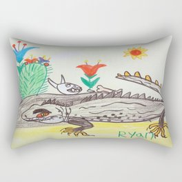 Pre-Historic Tuatara Rectangular Pillow