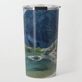 Emerald Green Alpine Lake Travel Mug