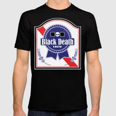Black Death Ribbon (Color) Black LARGE Mens Fitted Tee
