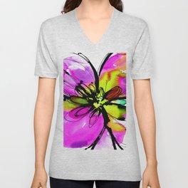 Ecstasy Bloom No.17e by Kathy Morton Stanion Unisex V-Neck