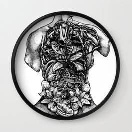 Blossom Surgery : Torso. Wall Clock