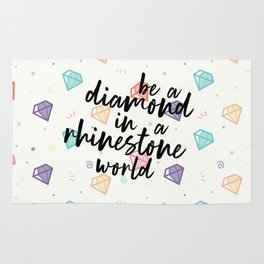 Diamond in a Rhinestone World Rug