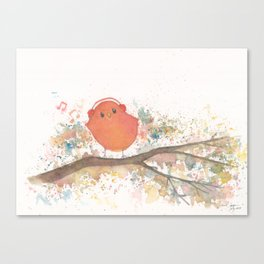 Birds in Music Canvas Print