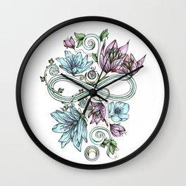 Infinity Moon Garden in Pastel Wall Clock