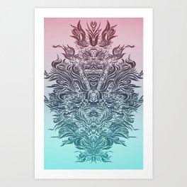 Soft Lines(P&B) Art Print