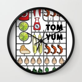 Tom Yum Assembly Kit Wall Clock