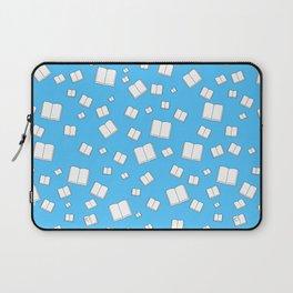 Blue Flying Books Pattern Laptop Sleeve